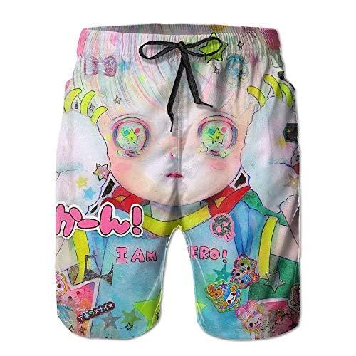 Herren Shorts Swim Beach Trunk Sommer Katze im roten Pullover Casual Fashion Shorts mit Taschen XXL Gymboree Pullover