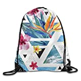 Pzeband Flag of Minnesota 100% Polyester Drawstring Backpack Cool Backpack Buggy Bag
