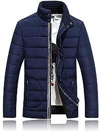 BOZEVON Chaqueta de pluma de Invierno Cuello de tortuga plumón para Hombres abrigo chaqueta abajo