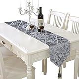 PRIDE S Bright Silk Bar Muster Mode Luxus Tischläufer Grau (größe : 28 * 180 Cm)