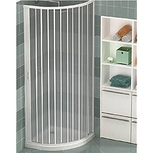 Ducha de PVC extensible sola puerta apertura lateral circular de 80/90