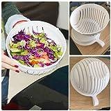 Demana 60 sekunden salat Schüssel,salat waschen und schneiden für Obst, Gemüse