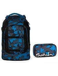 f5be15e80983a Satch Pack by Ergobag - 2tlg. Set Schulrucksack (+SchlamperBox Etui) - Blue