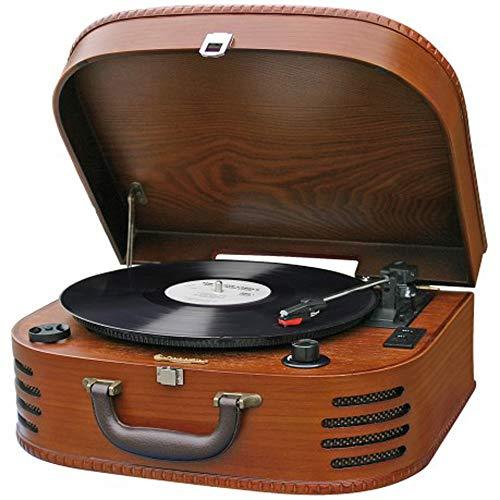 Roadstar ttr-635wd–giradischi Vintage (FM, AUX IN, amplificatore E altoparlante) Colore Marrone