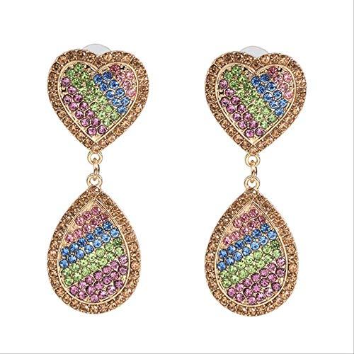 KBWL Orecchini pendenti alla moda Grandi pendenti Orecchini da donna in cristallo Gioielli per feste52221-LMT