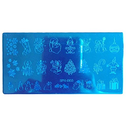 Vovotrade 2016 Nouveaux Plaques de Noël bricolage Nail Art Photo Stamp Stamping Template manucure_C