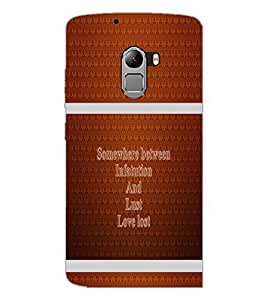 PrintDhaba Quote D-1336 Back Case Cover for LENOVO K4 NOTE A7010 (Multi-Coloured)
