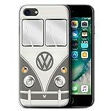 Stuff4 Gel TPU Hülle / Case für Apple iPhone 7 / Maus Grau Muster / Retro T1 Wohnmobil Bus Kollektion