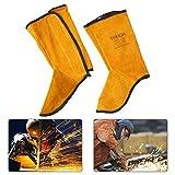 Hete-supply 1Pair Feet Cover for Welder Pelle di Vacchetta Saldatura di Ghette Saldatura Protettiva Scarpe Saldatura Piedi Leggings Resistente alla Fiamma Calzature