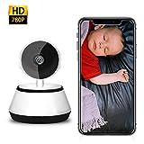 KINJOHI Überwachungskamera Babyphone Indoor IP Kamera 780P HD WiFi-Haustierkamera, Babyphone, mit Bewegungsverfolgung, Haustier/Haus Monitor Zwei-Wege-Audio Nachtsicht