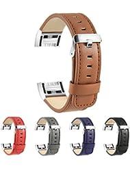 Repuesta Correa para Fitbit Charge 2, BeneStellar Repuesta Correa en Cuero para Fitbit Charge 2 (marrón)