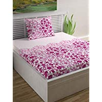 Divine Casa Single Bedsheets Sense Single Bedsheet Set, Pink