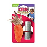 KONG Refillable Catnip Feather Top Carrot Cat Toy