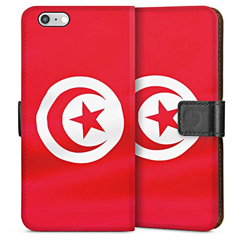 Apple iPhone 6 Housse Étui Silicone Coque Protection Tunisie Drapeau Drapeau Sideflip Sac
