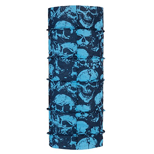 autofy unisex angry skull print lycra headwrap for bikes (black and blue, free size) Autofy Unisex Angry Skull Print Lycra Headwrap for Bikes (Black and Blue, Free Size) 51ShYuNxXiL