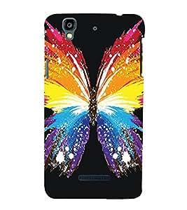 Butterfly pattern Back Case Cover for YU Yureka::Micromax Yureka AO5510