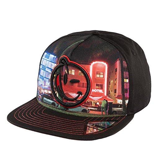Preisvergleich Produktbild Yums Herren Caps / Snapback Cap South Beach Night 2.0 schwarz Verstellbar