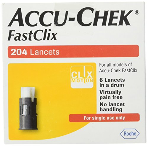 Accu Chek FastClix 200 4 test strips -
