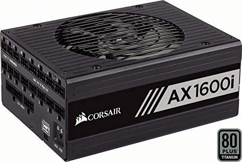 Corsair AX1600i Alimentation numérique entièrement modulaire (1600 watts, certifiée 80+ Titanium) Noir