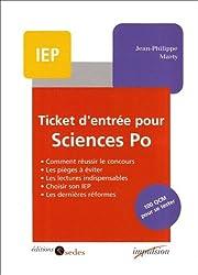 Ticket d'entrée pour Sciences Po