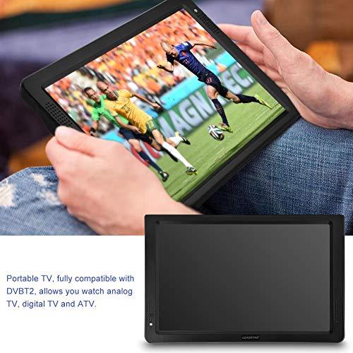 Tragbarer HD TV,Digital Multimedia Player DVB-T/T2 HD Analog Fernseher DVD Player Monitor Bildschirm,12inch,unterstützt TF Card USB und Audio, für zu Hause, Auto, Urlaub Camping (Eu) (12 Zoll Hdmi-monitor)