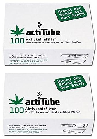 actiTube Aktivkohlefilter - 2 x 100 Stk
