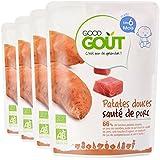 Good Goût - BIO - Patates Douces Sauté de Porc dès 6 mois 190g - Lot de 4
