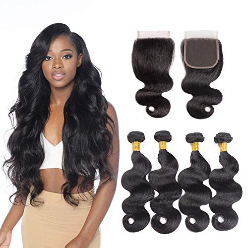 Hair Extensions & Wigs Human Hair Weaves Sleek Brazilian 360 Lace Frontal With Bundle Body Wave Human Hair Bundles With 360 Frontal 2 3 4 Bundles With Frontal Non Remy Superior Performance