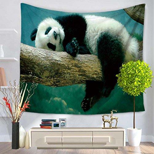 GuDoQi Tapisserie Panda niedlichen Tier Wandbehang Wandteppich frischen Stil Wand Dekoration Home Decor Beach Blanket