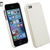 Emartbuy® Apple iPhone SE Clip auf dünne harte Fall Abdeckung Carbon Weiß