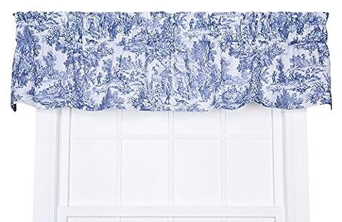 Victoria Park en toile 68-inch-by-24centimètre sur mesure Tier Rideaux, Bleu,