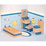 Los juegos de simulación Woodyland Dollhouse accesorios de baño Set (4 piezas)