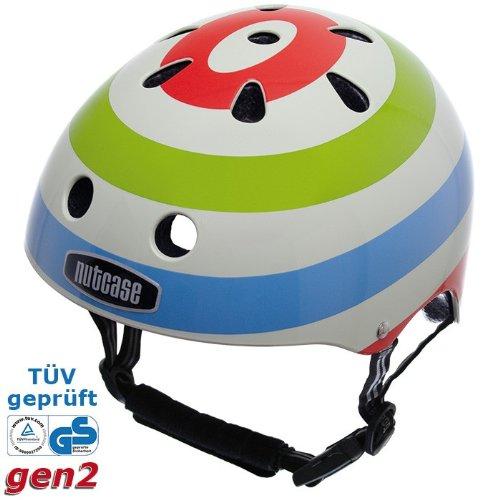 Nutcase Street Multi-Sport Helm Verschiedene Designs, ncg, pop Bullseye, L-XL (61-64 cm)