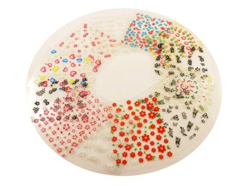 30 feuilles de stickers 3D pour nail art design Faux Ongles pour nail art