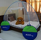 #4: Classic Mosquito Net Classic Foldable Mosquito Net(Blue) (Size-Single Bed)