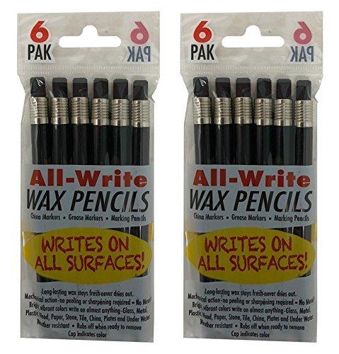 all-write Wachs Bleistifte Mechanische Twist Top Roll-Fett Marker CHINA Kennzeichnung Pen, schwarz 12-Count