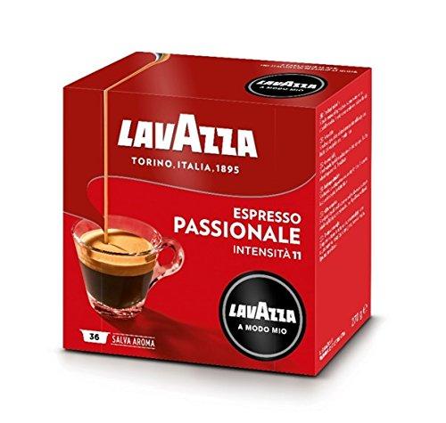 Lavazza A Modo Mio Espresso Passionale Capsules - 36 capsules monodoses de café moulu