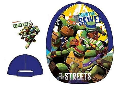 TMNT Boys Kid's Teenage Mutant Ninja Turtles Character Summer Sun Hats Baseball Caps (Sizes 52 cms Ages 3-6, 54 cms Ages 7-10) (52 cms Ages 3-6, Blue QE4131)