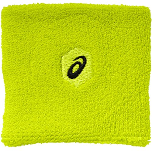 Asics 2018 Unisex Wristband Sports Fitness Sweatbands Safety Yellow OneSize Asics-armband