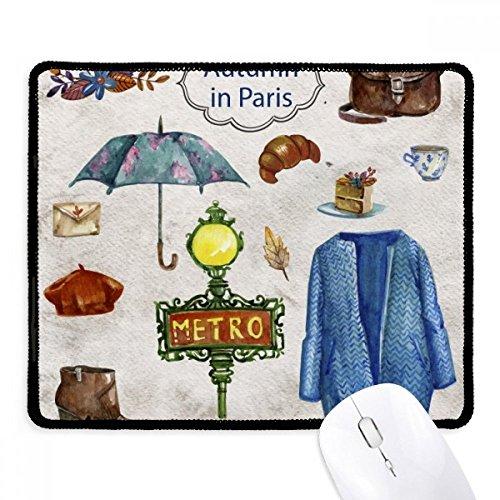 DIYthinker Kleid Regenschirm Frankreich Leben Griffige Mousepad Spiel Büro Schwarz Titched Kanten Geschenk