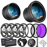 Neewer Filtri 58mm & Accessori per Obiettivo Canon Rebel EF-S...