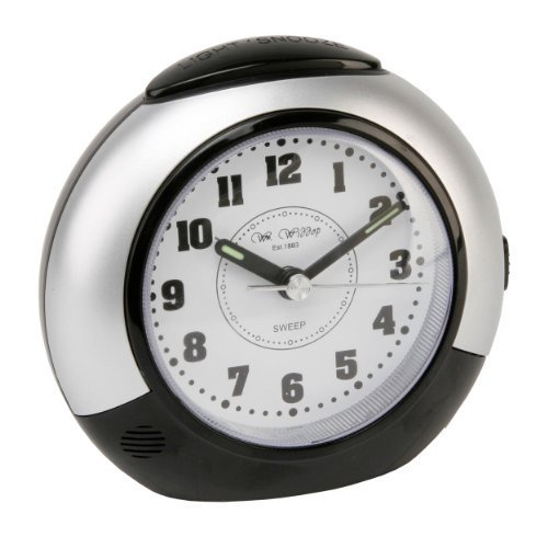 black-silver-alarm-clock-with-silent-sweep-no-ticking-feature-plus-snooze-light