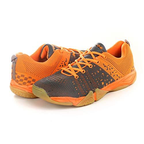 KD Vector Badminton Tennis Schuhe Herren Indoor Court Training Schuh Racketball Squash Volleyball TT Nicht abfärbende Sneaker Schuhe, (Cs 2030 Orange), 36.5 EU -