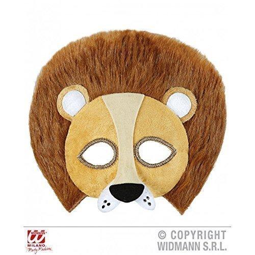 Lively Moments Augenmaske/Maske/Gesichtsmaske plüschiger Löwe (Löwenkostüm/Tierkostüm Zubehör)