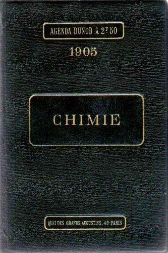 Agenda Dunod 1905 : Chimie - 27ème édition revue et augmentée