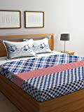 #9: Stellar Home USA by Portico IRIS Printed Cotton Multicolor Double BEDSHEET with Pillow Cover- 224X240 cm