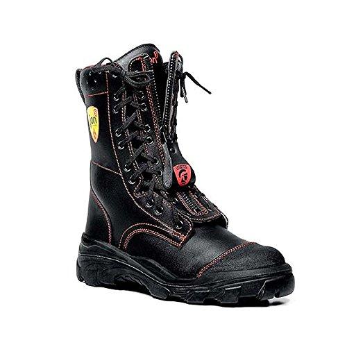 JORI Euro-Proof F2A (Typ 2) HI3 und SRC Herren Outdoor Feuerwehrstiefel Form C (Sicherheitsstiefel) mit Stahlkappe, schwarz, EU 44