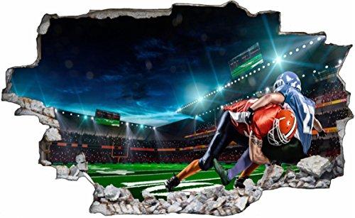DesFoli Football USA 3D Look Wandtattoo 70 x 115 cm Wanddurchbruch Wandbild Sticker Aufkleber C605 (Football Nfl Bilder)