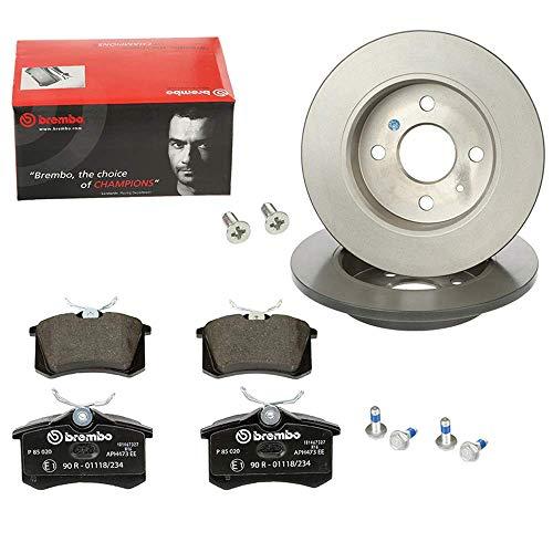Preisvergleich Produktbild 2 Bremsscheiben Coated Disc Line Innenbelüftet Ø 260 Mm + Bremsbeläge Vorne (Vorne) von Brembo (P-B-01-00255) u.a. für / Bremsanlage