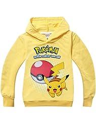 Pokemon Camiseta Mangas Largas y capucha